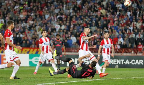 red star belgrade 0 1 arsenal giroud wondergoal maintains olivier giroud goal arsene wenger praises arsenal wonder