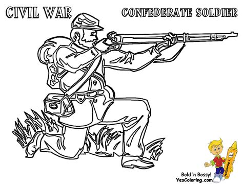 Civil War Coloring Page historic army coloring page army picture