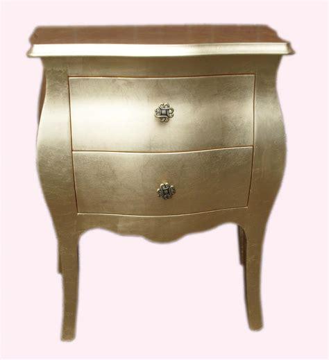 comodini argento mobili in foglia oro e argento comodino bombato la
