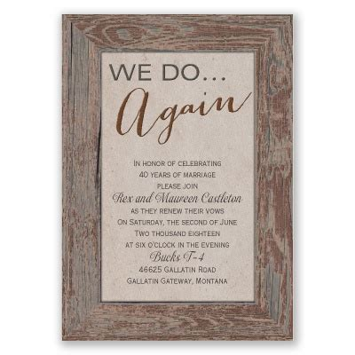 tried and true vow renewal invitation brown rustic invites at invitations by