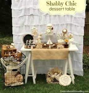shabby chic wedding shower ideas shabby chic bridal shower dessert table