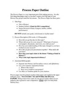 The Process Of Paper - best photos of current events paper outline definition
