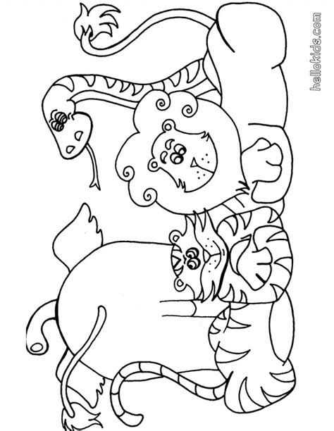safari color pages az coloring pages