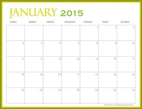 free downloadable 2015 calendar template free printable january 2015 calendars january 2015