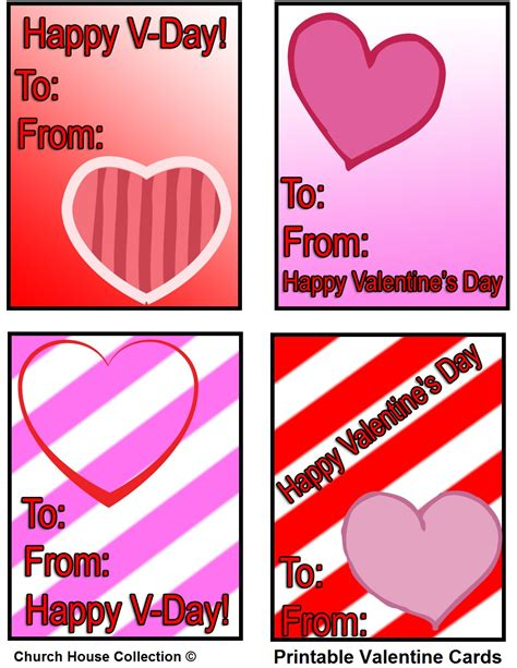 kid valentines church house collection printable cards