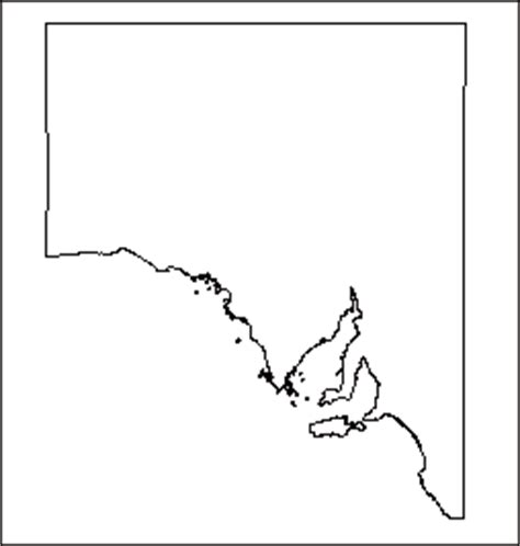 Blank Outline Map South Australia by Basic Outline Maps Library