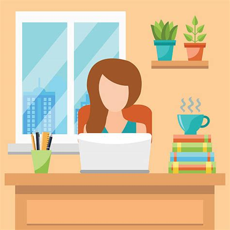home office illustrations royalty  vector graphics