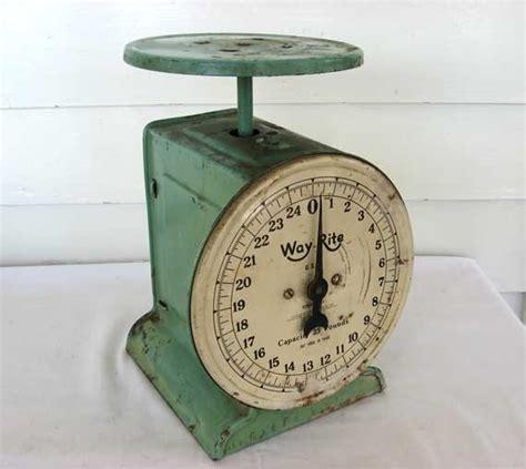 Vintage Kitchen Scales by 1930 S Vintage Kitchen Scales In Jadeite Green Aged
