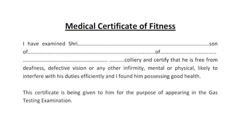 Resume Format For Applying Job Abroad by Medical Certificate For Gas Testing Exam Gujarat S