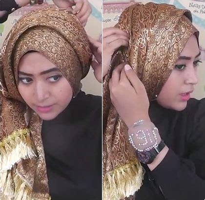 tutorial hijab turban natasha farani tutorial hijab semi turban yang simple dengan scarf songket