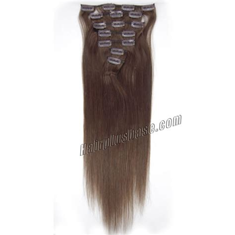 remy hair extensions clip in 30 inch 4 medium brown clip in remy human hair extensions