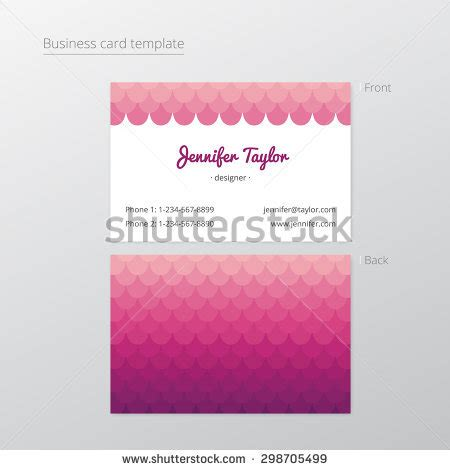 triangle shaped business card template gift voucher marketing promotion white stock