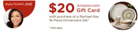 10 For 20 Amazon Gift Card - amazon rachael ray dinnerware only 49 99 20 amazon gift card