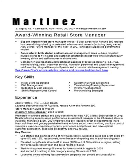 Resumes For Store Managers by 36 Manager Resumes In Word