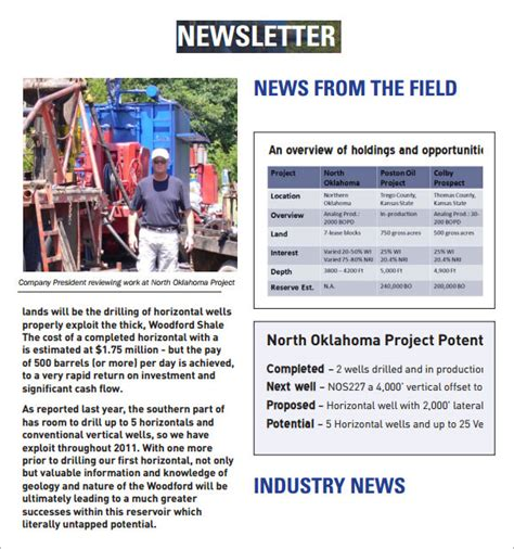 company newsletter 7 premium and free pdf download
