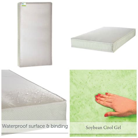 Sealy Soybean Everedge Foam Core Crib Toddler Mattress Soybean Everedge Crib Mattress