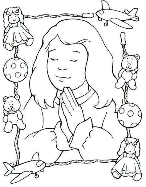 coloring page girl praying girl praying colouring pages