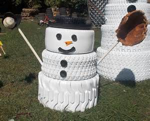 schneemann dekoration the snowman family made from tires hometalk