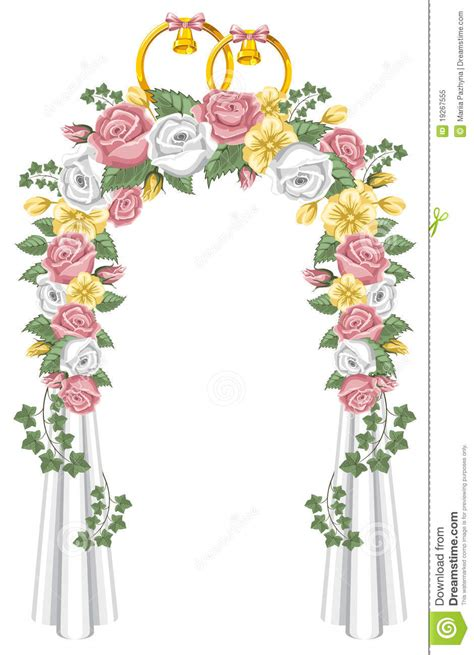 Garden Arch Plans by Wedding Arch Stock Vector Illustration Of Label Holiday