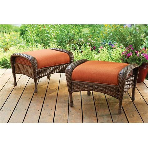 all weather wicker ottoman wicker ottomans easy home concepts