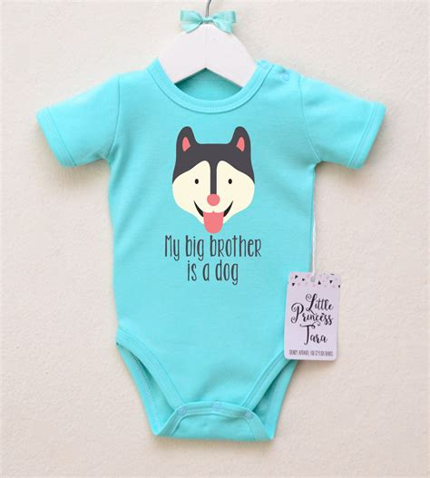 husky baby bodysuit baby clothes by