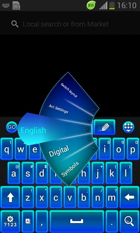 go keyboard themes blue go keyboard blue theme free android keyboard download appraw