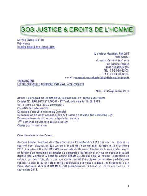 Lettre De Recours De Refus De Visa Pdf Pdf Lettre Recours Gracieux