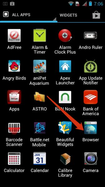 javascript android how to enable javascript in android browser