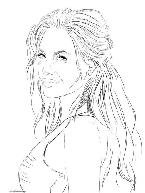 Dibujos de Angelina Jolie para colorear