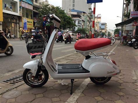 xe đạp điện thiết kế kiểu d 225 ng vespa được ưa chuộng