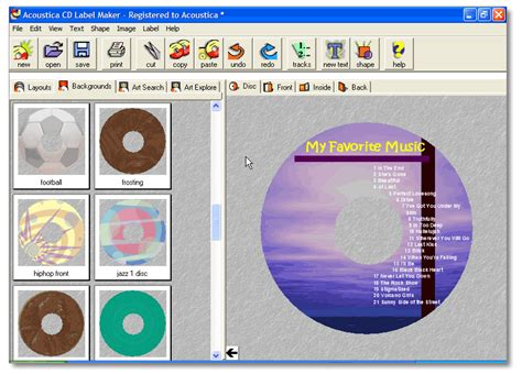 design with cover creator mp3 cd software com create your own cd dvd labels and cd
