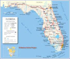 florida map travel across the usa