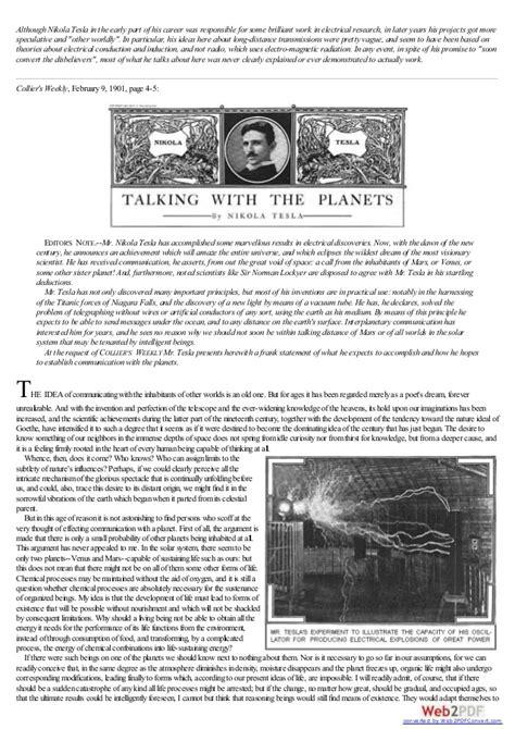 Nikola Tesla Wireless Communication 1926 Nikola Tesla About Wireless Technology