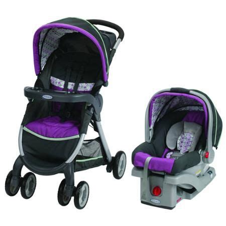 graco purple swing graco fastaction fold click connect travel system car