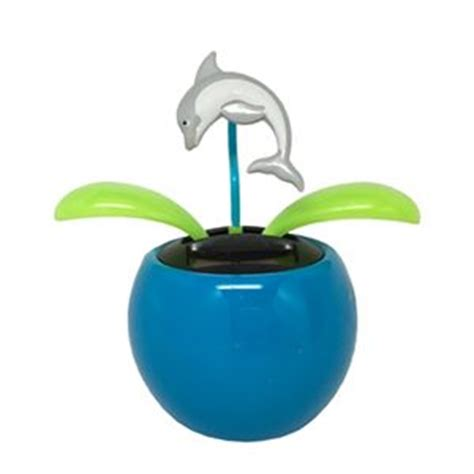 Daiso Solar Powered Swinging Dolphin solar dolphin unique office toys supplies and products at www officeplayground