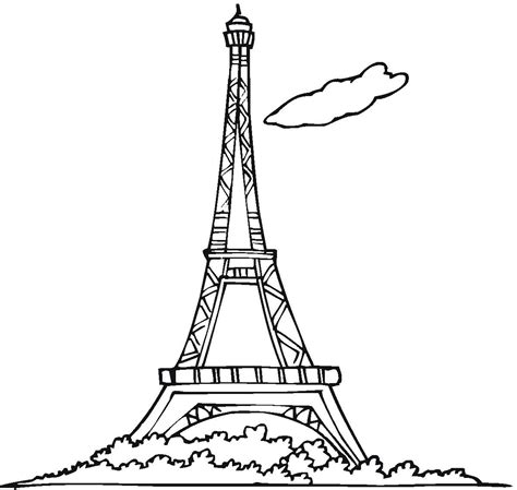 printable coloring page of eiffel tower free printable eiffel tower coloring pages for kids