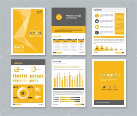 layout template company profile annual report brochure flyer page