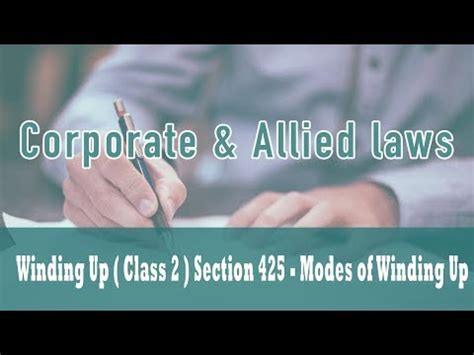 winding up of section 25 company winding up class 2 part vii of companies act 1956