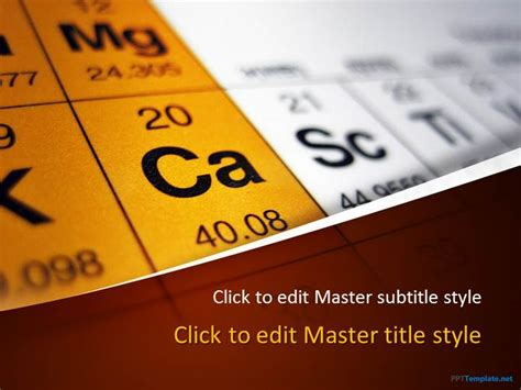 Free Periodic Table Ppt Template Chemistry Powerpoint Templates Free