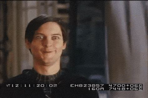Spiderman Face Meme - tobey maguire gif find share on giphy