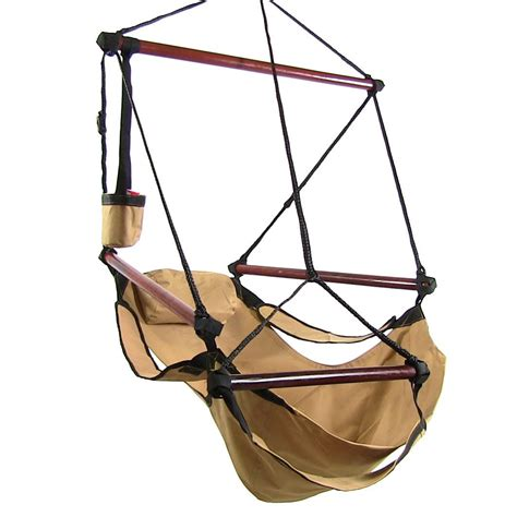 air chair swing sunnydaze deluxe hanging hammock air chair swing with