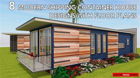Free Modern House Plans best 8 modern shipping container house designs with floor