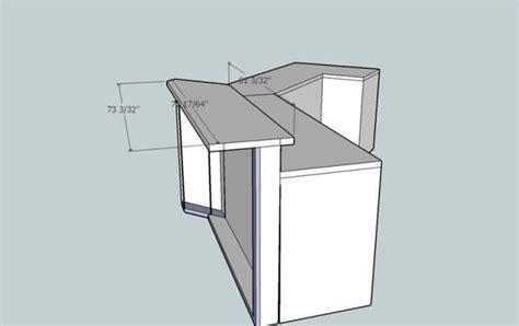 bar top size standard bar height countertop overhang counter height