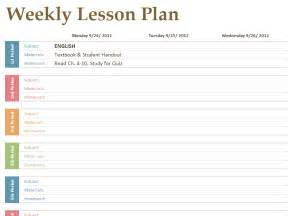 free weekly lesson plan template printable lesson plan template free to