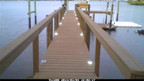 boat dock lighting fixtures lake lite solar dock lights time lapse youtube