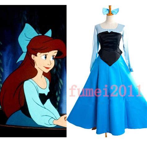pattern for ariel blue dress aliexpress com buy ariel mermaid dress cosplay classic