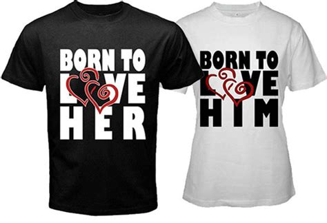 Couples Valentines Matching Shirts Expressions Of In T Shirt Prints Wertee