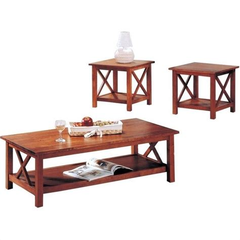 coaster briarcliff casual 3 occasional table set in