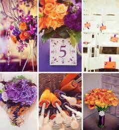 Orange Color Theme by Fall Wedding Ideas And Invitations Purple And Orange Wedding