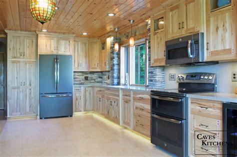 knotty hickory kitchen cabinets custom rustic knotty hickory kitchen rustic kitchen